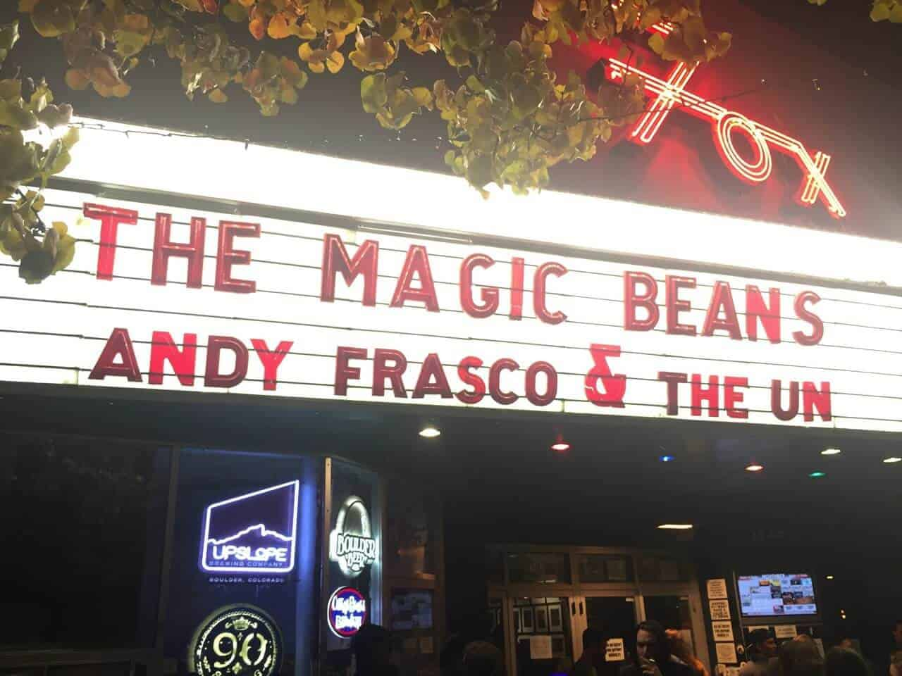 The Magic Beans and Andy Frasco and the U.N. at Fox Theatre, Boulder, Colorado - November 20th, 2015 1